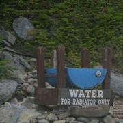 Mount Washington Auto Road - Zum Kühlen der Motoren