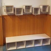 Kindergarten-Garderobe