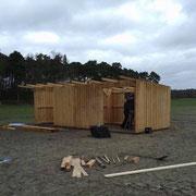 Frühjahr 2014 - Bau der Weideschutzhütte