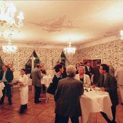 Angeregter Erfahrungsaustausch und gute Gespräche im Rokokosaal des Historischen Rathauses