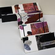 Alternance, 2016, bois gravé et gaufrage, 8,5 X 22,5 X 7 cm, échelle de Jacob