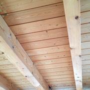 Holzdecke streichen