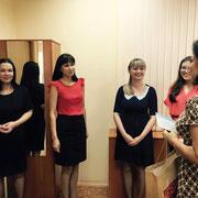 Победители номинации «Самый активный HR коллектив» - HR специалисты компании «ЕРЦ»