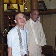 谷一隅会長とサンガ師が陣中見舞いにいらっしゃいました。