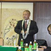 開式に続き、濱田会長の挨拶。