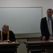会長挨拶。昨年は震災関連のボランティアや法華経読誦等を行ってきました。