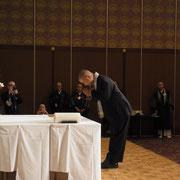 濱田会長が群馬を代表して調印されました。