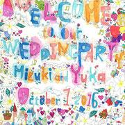 結婚式ウェルカムボード製作 2016.10