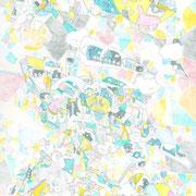 「好奇心の足跡」 2015.5(409mm×318mm)【ON LOAN】