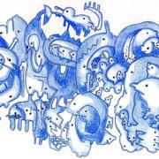 「青いさん劇場」 2010.10(210mm×297mm)