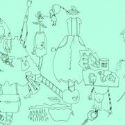 「こんなレジ袋の柄 あったなら」 2011.2(210mm×297mm)