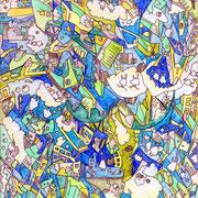 「あお、みどり、モザイク」2015.1 (227mm×158mm)【SOLD OUT】