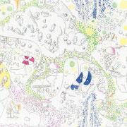 「しゅわしゅわり 炭酸雲に アイス村」 2013.7(409mm×318mm)
