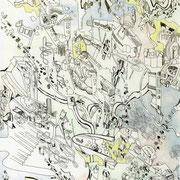 「空想未来都市構築シーン」 2014.3 (409mm×318mm)
