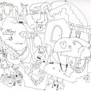 「空想建築2」 2011.1(210mm×297mm)