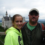 Courtney and Dave Smith on bridge near Neuschwanstein