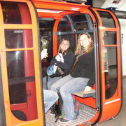 Brooke and Amber in cable car