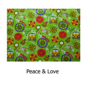 hule PVC  Peace & Love