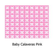 hule PVC Calaveras Pink