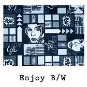 tela resinada Enjoy B W