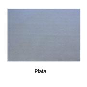 Piel sintética de color plata