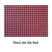 hule PVC Menú del día rojo