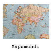 tela resinada Mapamundi