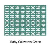 hule PVC Calaveras Green