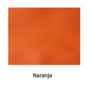 Piel sintética de color naranja