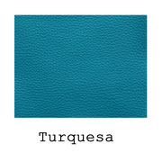 Piel sintética de color Turquesa