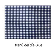 hule PVC Menú del día azul