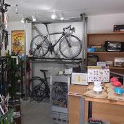 展示中の自転車です