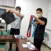 注染糸を絣糸として使用できる