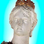 Sainte Catherine d'Alexandrie - Bois peint (XIXe S.)