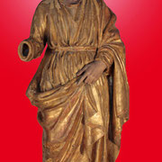 Saint Joseph - Bois peint (stuqué et polychrome) (XIXe S.)