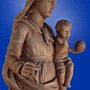 Vierge à l'enfant -Bois naturel (XIXe S.)