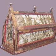 Châsse-reliquaire des saints Firmin, Warlus et Luxor Émaux champlevés sur âme de bois (XIIIe siècle) Classée monument historique le 4 janvier 1915