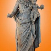 Vierge à l'enfant - Bois naturel (XIXe S.)