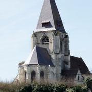 Les toitures du clocher et du chœur de la collégiales refaites à neuf.