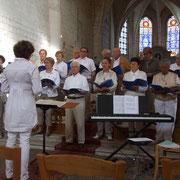 """Concert avec la chorale """"le temps de vivre""""."""