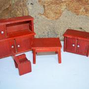 50er Jahre Puppenstuben Möbel aus Holz. Komplettpreis: 10,00 €