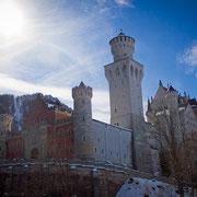 Schloss Neuschwanstein im Schnee
