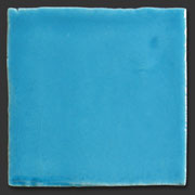 "Glasierte Terracotta, Serie ""AK"", Azul T-10 10x10 cm / 13x13 cm"