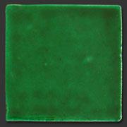 "Glasierte Terracotta, Serie ""AK"", Verde Cobre 10x10 cm / 13x13 cm"