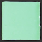 """Glasierte Terracotta, Serie """"AK"""", Verde T-2 10x10 cm / 13x13 cm"""