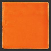 "Glasierte Terracotta, Serie ""AK"", Caqui 10x10 cm / 13x13 cm"