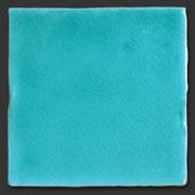 "Glasierte Terracotta, Serie ""AK"", Verde Azulado 10x10 cm / 13x13 cm"
