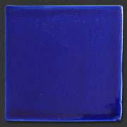 "Glasierte Terracotta, Serie ""AK"", Azul Cobalto 10x10 cm / 13x13 cm"