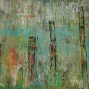 Titel: Am Fluss, 50 x 70 cm Acryl auf Leinwand Mai 2013, in Privatbesitz