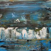 Titel: Die Flut, 30 x 40 cm Juni 2013 Acryl auf Leinwand in Privatbesitz